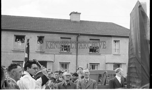 April 1956; A photo taken at the unveiling of the Cahill Memorial in Cahill's Park in Tralee.