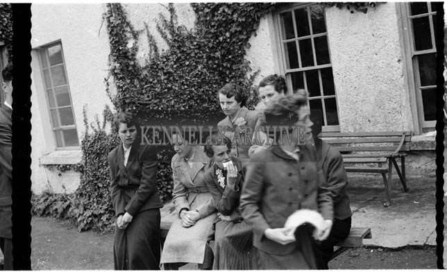 April 1956; A photo taken at Jimmy Barry's wedding which took place in St. John's Church in Tralee and was followed with the reception in the Meadowlands Hotel.