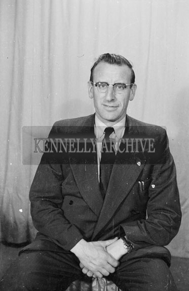 April 1956; A photo taken of Tadhg Crowley at the studio in Tralee.