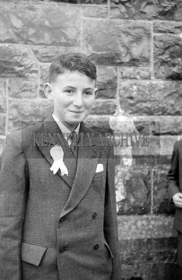 April 1956; A photo taken on Confirmation Day in Milltown.