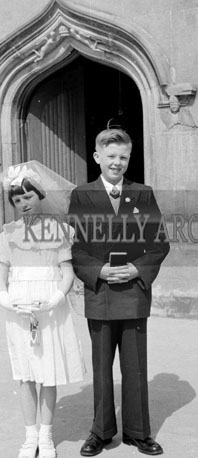 April 1956; A photo taken on Confirmation Day in Dromtarriff.