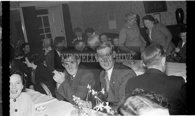 1956; Enjoying the night at the INTO Social in the Meadowlands in Tralee.
