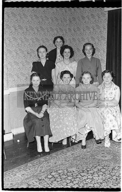 1956; Enjoying the night at the Post Office Social at the Meadowlands Hotel in Tralee.