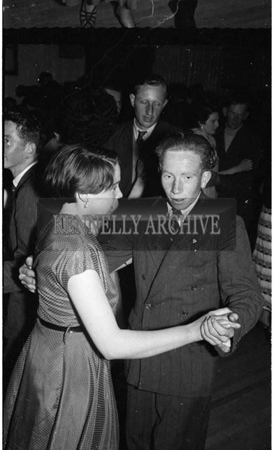 May 1956; Enjoying the night at the Ballyduff Macra na Feirme Dance.