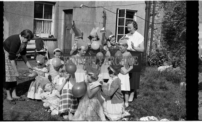 May 1956; A photo taken at the eighth birthday party of Teresa Fitzmaurice from Caherslee in Tralee.