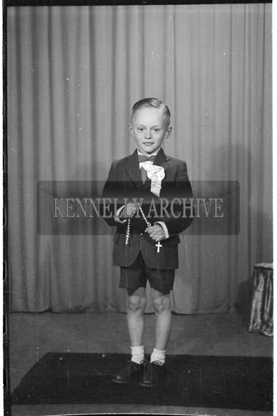 May 1956; A photo taken of Eamon Kirby from Ardfert on his Communion Day.