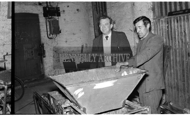 June 1956; A photo taken of Billy Mason and Frank King at McCowen's in Tralee.