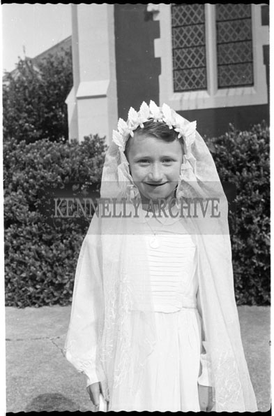 June 1956; A photo taken on Communion Day at an unknown location in Kerry.