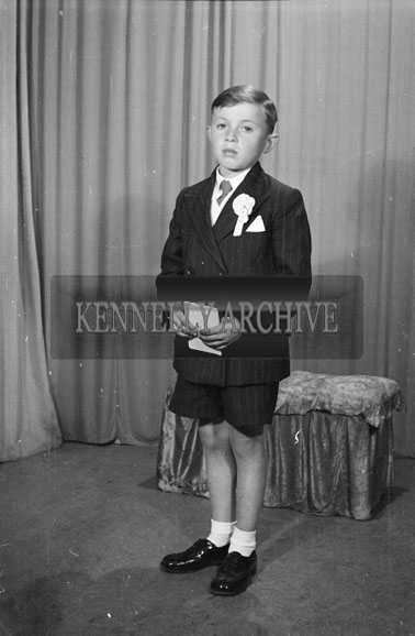 June 1956; A photo taken on Communion Day at the studio in Tralee.
