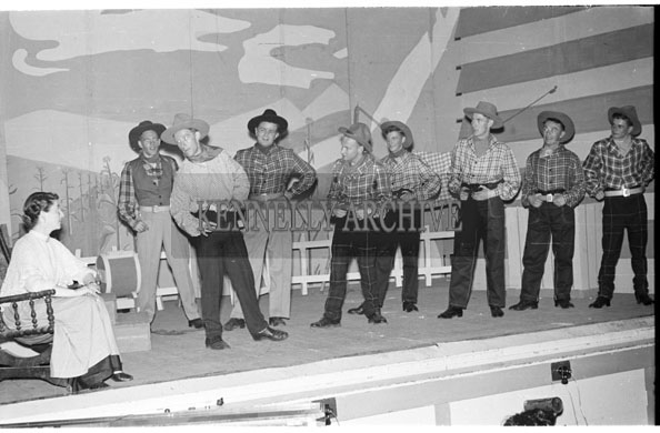28th May-2nd June 1956; A photo taken of the Tralee Light Opera performing 'Oklahoma'.
