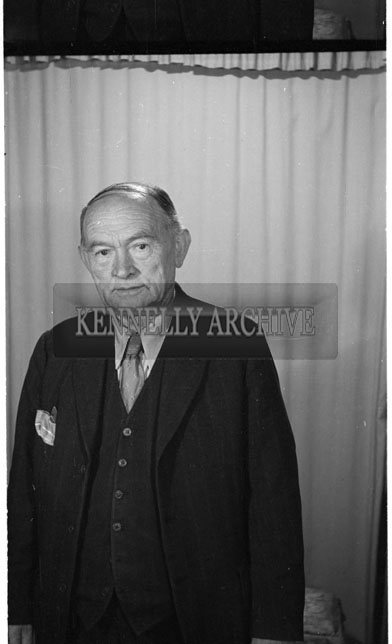 June 1956; A photo of a man taken at the studio in tralee.
