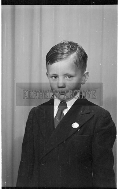May 1956; A Communion photo taken at the studio in Tralee.