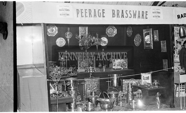 29th-31st May 1956; The Peerage Brassware stand at the Kingdom County Fair Trade Show which took place in Tralee.