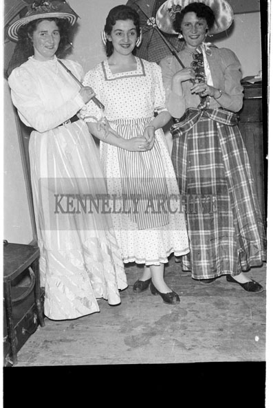 28th May-2nd June 1956; A photo taken backstage at the Tralee Light Opera performing 'Oklahoma'.