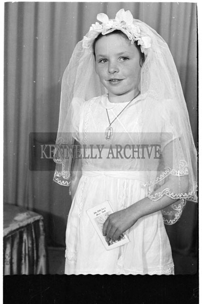 May 1956; A communion photo taken of Miss Leen from Ballymacelligott.