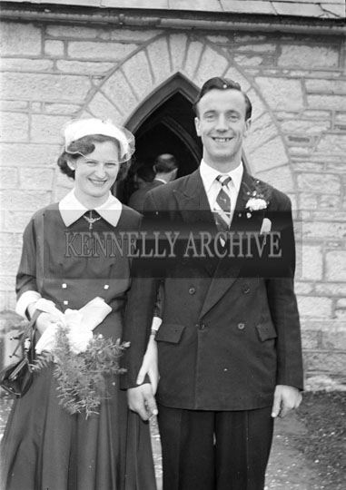 June 1956; A wedding at the Church of the Immaculate Conception (St. Catherine's), Tralee.