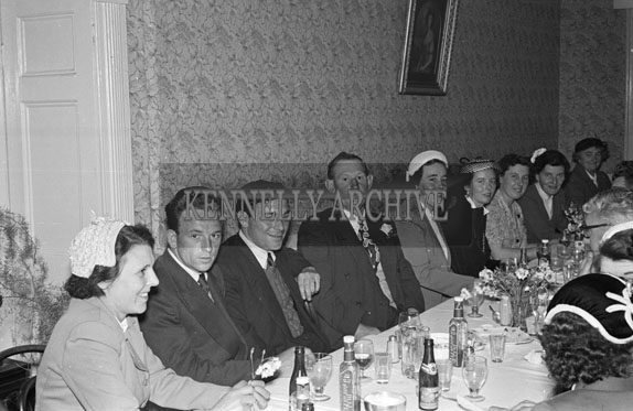 1956; A photo taken at the Brick Wedding reception which was held at the Meadowlands Hotel in Tralee.