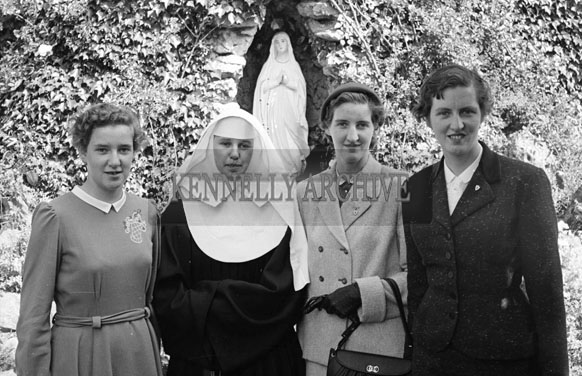 May 1956; A photo taken of a group of women and a nun in Castleisland.