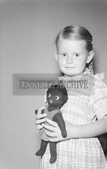 1956; One of the The Revington Children poses for the camera at the studio in Tralee.
