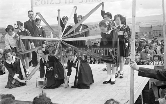 22nd July 1956; A photo taken of some of the Irish Dancing events at the Ballyheigue Feis.