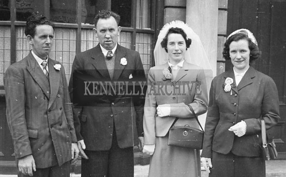 1956; A photo taken at the Boland wedding reception outside the Grand Hotel in Tralee.