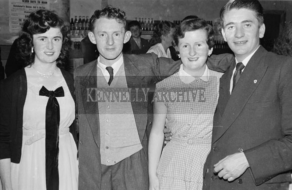 1956; People Enjoying the night at the American Ball which took place in Castlegregory.