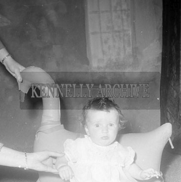 1956; A photo of the O'Donnell Baby from The Kerries taken at the studio in Tralee.
