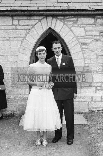 18th July 1956; A photo taken at the Wedding of Joan O'Connor to Padraig Kennelly Senior which took place at The Church of the Immaculate Conception and was followed by the reception in Caherina House.