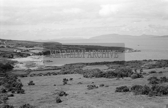 1956; A scenic view of the Kerry Coastline taken in Valentia.