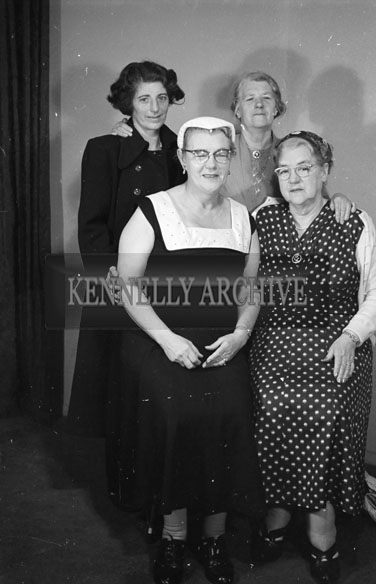 1956; A photo of a group of women taken at the studio in Tralee.