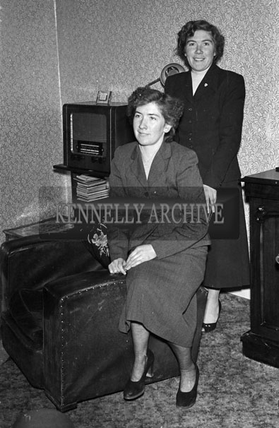 May 1957; Two women in the Presbytery in Glenbeigh.