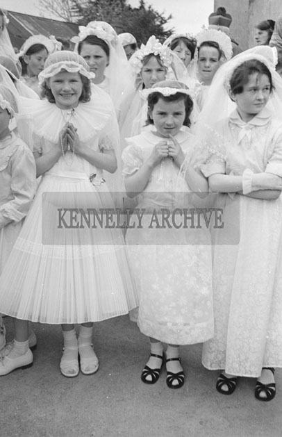 3rd May 1957; A photo taken on confirmation day in Castlegregory.