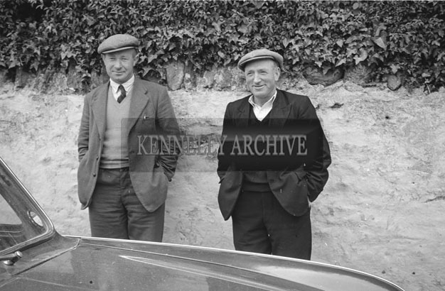 3rd May 1957; A photo of two men, taken on Confirmation Day in Castlegregory.