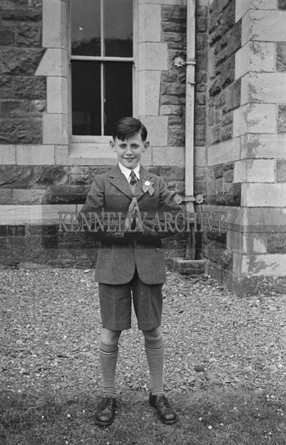 6th May 1957; A photo taken on confirmation day in Dingle.