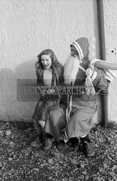 December 1957; A photo taken with Santa at Castlemaine National School.
