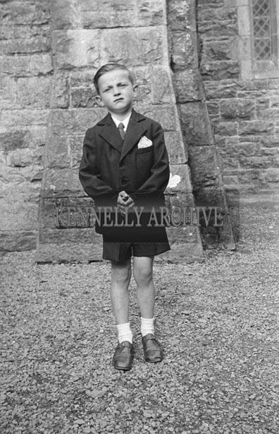 May 1957; A photo taken on communion day in Abbeyfeale.