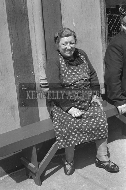 May 1957; A photo of a woman in Abbeyfeale.