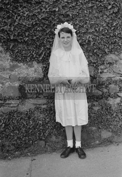 May 1957; A photo taken on confirmation day in Abbeyfeale.