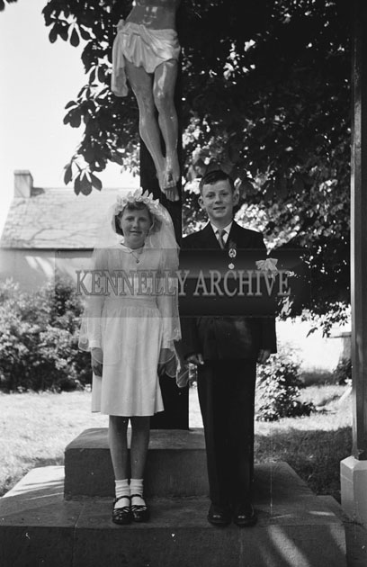 May 1957; A photo taken on confirmation day in Abbeyfeale.