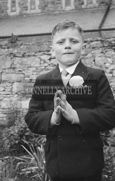 May 1957; A photo taken at the First Holy Communions in Castleisland.