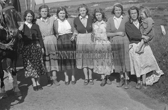 May 1957; A photo of traveller women.