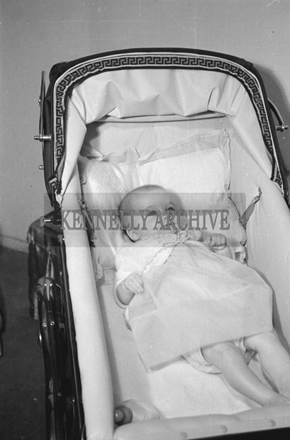 May 1957; A photo of Baby Drugan, taken in the studio.