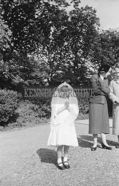 June 1957; A photo taken on Communion Day in Ardfert.