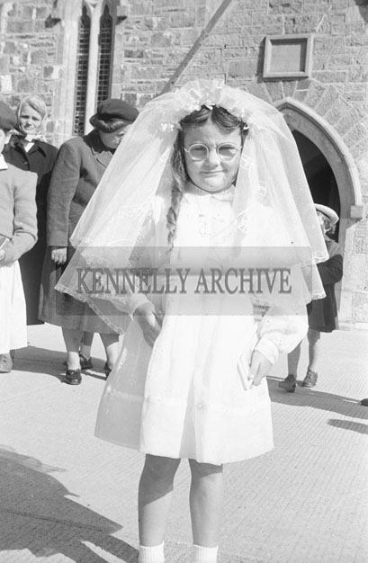 June 1957; A photo taken on Communion Day in Ardfert.