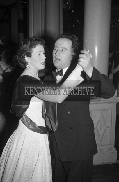 27th December 1957; People enjoying themselves at the Tralee Rugby Club Dress Dance in The Great Southern Hotel, Killarney.