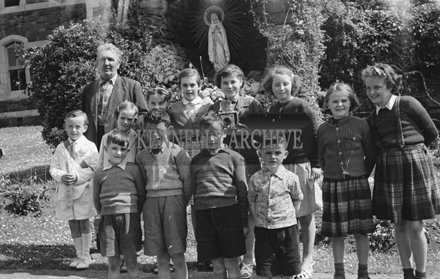 June 1957; A photo taken in Dingle on communion day.