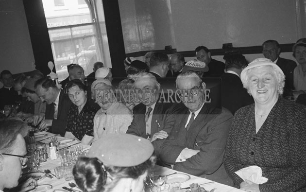 May 1957; A photo taken at the breakfast to celebrate Father Quilter's first mass.