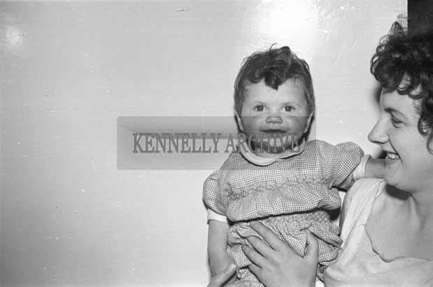 May 1957; A photo of a baby, taken in the studio.
