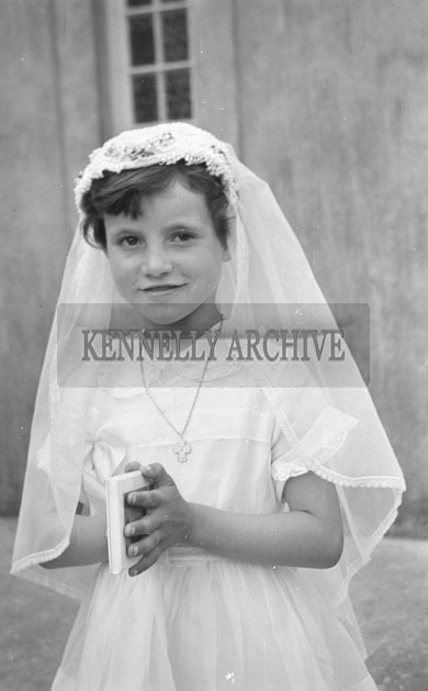 May 1957; A photo taken at the First Holy Communions in Castlegregory.