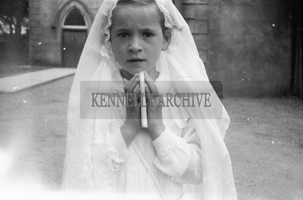 June 1957; A photo taken on First Holy Communion Day in Ballyduff.